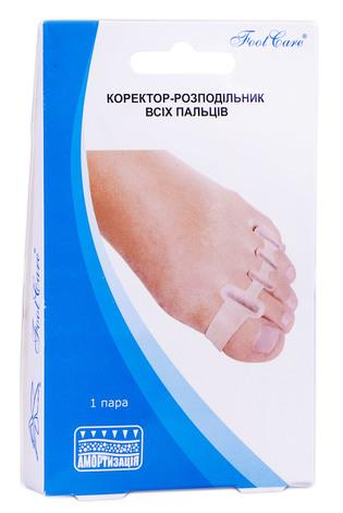 Foot Care GB-07 Коректор-розподільник всіх пальців розмір L (39-46) 1 пара