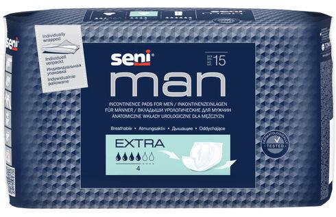 Seni Man Extra Прокладки урологічні чоловічі 15 шт