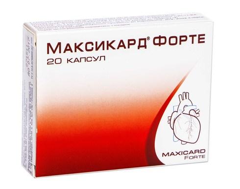 Максикард Форте капсули 20 шт
