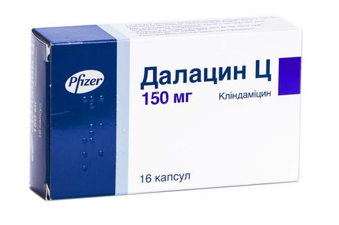 Далацин Ц капсули 150 мг 16 шт