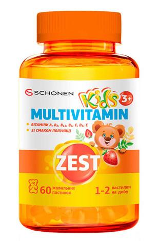 Zest Кідс Мультивітамін пастилки жувальні 60 шт