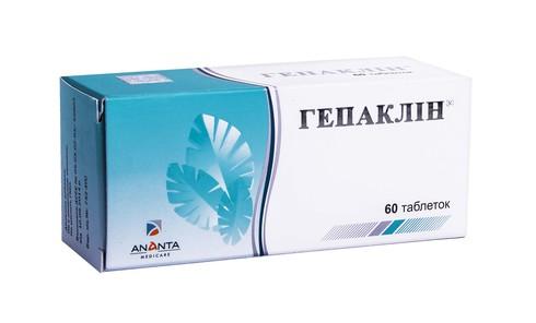 Гепаклін таблетки 60 шт