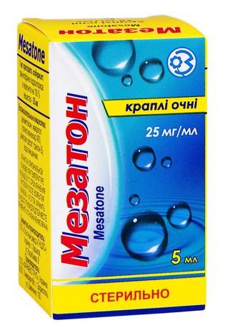 Мезатон краплі очні 25 мг/мл 5 мл 1 флакон