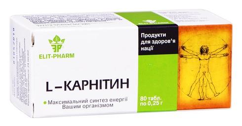 L-карнітин таблетки 80 шт