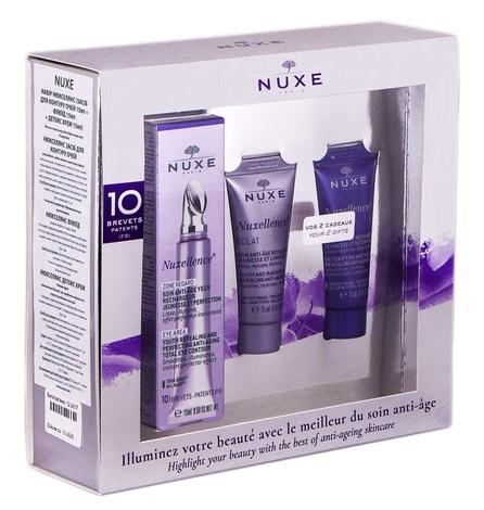 Nuxe Nuxellence Набір флюїд 15 мл + засіб для контуру очей 15 мл + Детокс крем 15 мл 1 шт