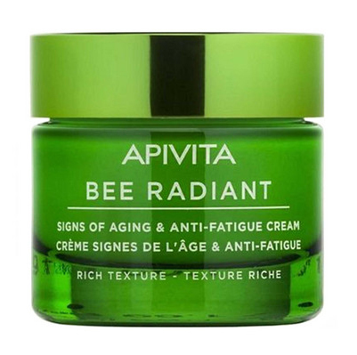 Apivita Bee Radiant Крем насиченої текстури для захисту від ознак старіння та слідів втоми 50 мл 1 банка