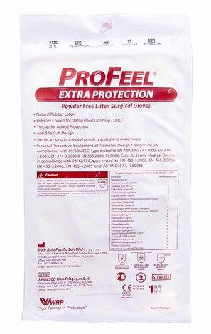 ProFeel DHD Extra Protection Рукавички хірургічні латексні стерильні неприпудрені розмір 8,5 1 пара