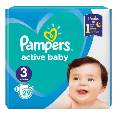Pampers Active Baby-Dry 3 Midi Підгузки дитячі 6-10 кг 29 шт