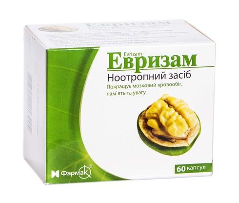 Евризам капсули 400 мг/25 мг  60 шт