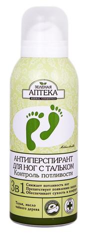 Зелена Аптека Антиперспірант для ніг з тальком Контроль пітливості 150 мл 1 балон