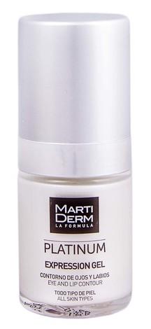 MartiDerm Platinum Експрешн гель для контуру очей та губ мінімізує мімічні зморшки для всіх типів шкіри 15 мл 1 флакон