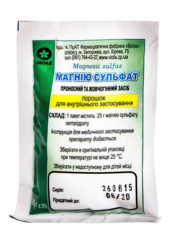Магнію сульфат порошок 25 г 1 пакет
