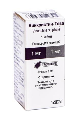 Вінкристин Тева розчин для ін'єкцій 1 мг/мл 1 мл 1 флакон