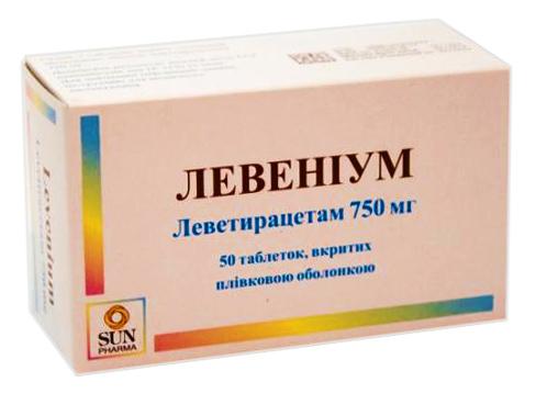 Левеніум таблетки 750 мг 50 шт