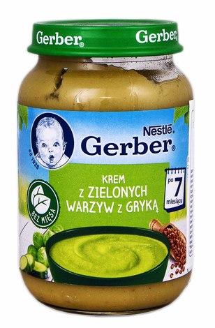 Gerber Суп-пюре з зеленими овочами та гречкою з 7 місяців 190 г 1 банка