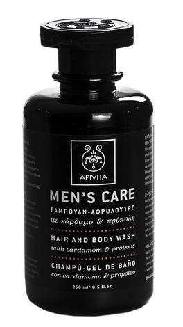 Apivita Men's Care Засіб для миття волосся і тіла з кардамоном і прополісом 250 мл 1 флакон