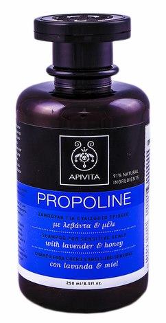 Apivita Propoline Шампунь для чутливої шкіри голови з лавандою і медом 250 мл 1 флакон