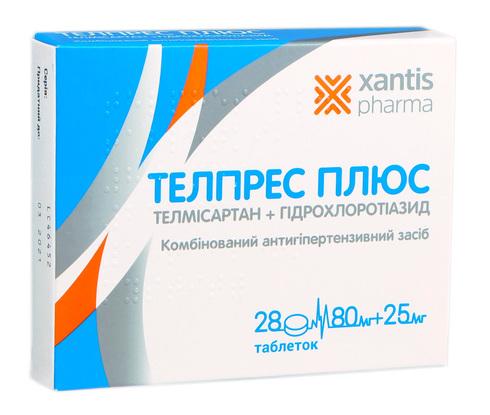Телпрес Плюс таблетки 80 мг/25 мг  28 шт