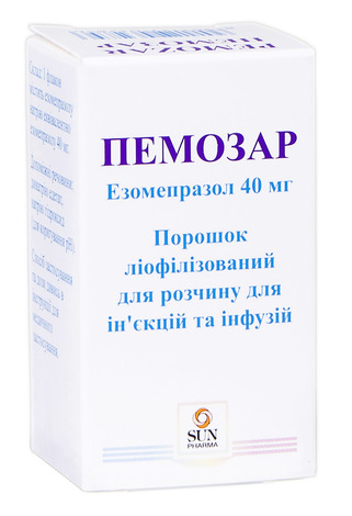 Пемозар ліофілізат для розчину для ін'єкцій та інфузій 40 мг 1 флакон