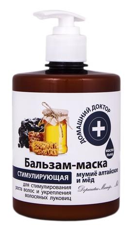 Домашній Доктор Бальзам-маска Мумійо алтайське і мед 500 мл 1 флакон