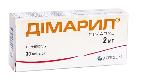 Дімарил таблетки 2 мг 30 шт