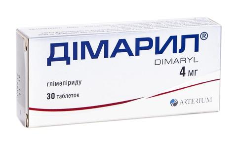 Дімарил таблетки 4 мг 30 шт