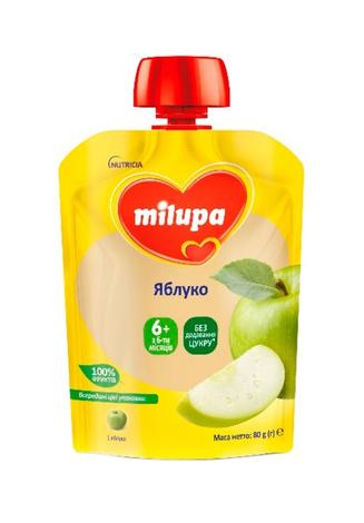Milupa Пюре Яблуко з 4 місяців 80 г 1 пауч