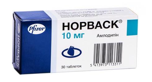 Норваск таблетки 10 мг 30 шт