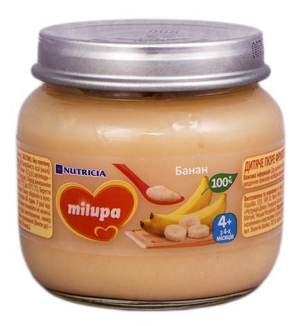 Milupa Пюре Банан з 4 місяців 100 г 1 банка