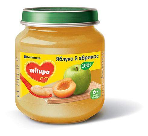 Milupa Пюре Яблуко й абрикос з 6 місяців 100 г 1 банка