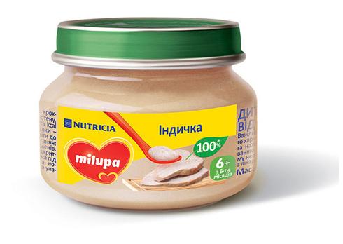Milupa Пюре Індичка з 6 місяців 80 г 1 банка
