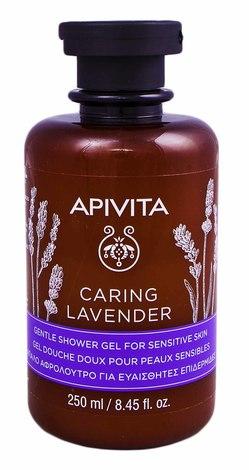 """Apivita Гель для душу з ефірними оліями """"Лаванда"""" для чутливої шкіри 250 мл 1 флакон"""