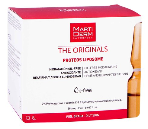 MartiDerm The Originals Протеос Ліпосом ампули зволоження та антиоксидантна дія для жирної шкіри 2 мл 30 ампул