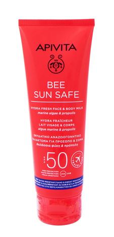 Apivita Bee Sun Safe Сонцезахисне молочко для обличчя і тіла SPF50 100 мл 1 туба