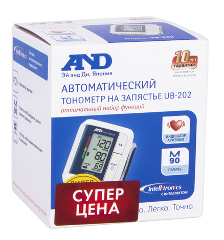 AND UB-202 Тонометр автоматичний на зап'ястя 1 шт