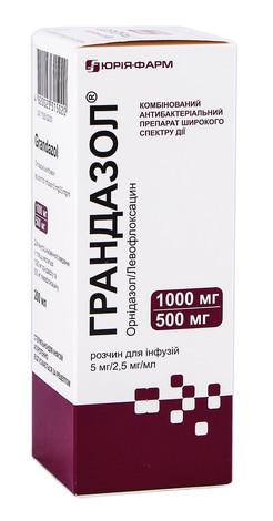 Грандазол розчин для інфузій 5 мг/2,5 мг/мл  200 мл 1 флакон
