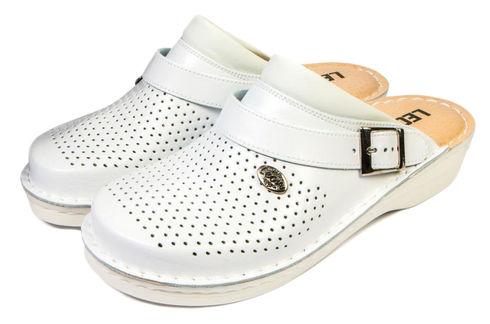 Leon V202 Медичне взуття чоловіче білого кольору 43 розмір 1 пара