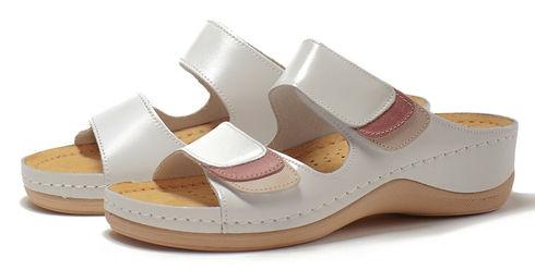 Leon 904 Медичне взуття жіноче білого кольору 39 розмір 1 пара