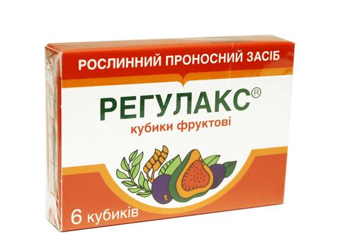 Регулакс кубики фруктові 6 шт