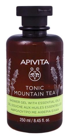 """Apivita Гель для душу з ефірними оліями """"Тонізуючий гірський чай"""" 250 мл 1 флакон"""