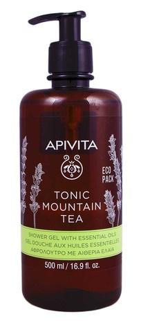 """Apivita Гель для душу з ефірними оліями """"Тонізуючий гірський чай"""" 500 мл 1 флакон"""