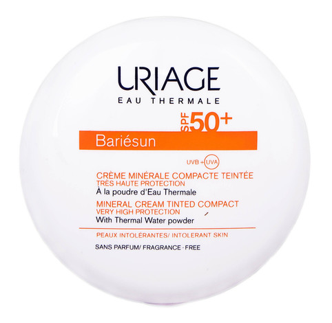 Uriage Bariesun Крем-пудра сонцезахисна мінеральна SPF-50+ тон золотистий 10 г 1 шт
