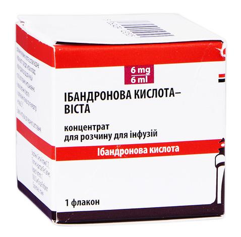 Ібандронова кислота Віста концентрат для інфузій 6 мг 6 мл 1 флакон
