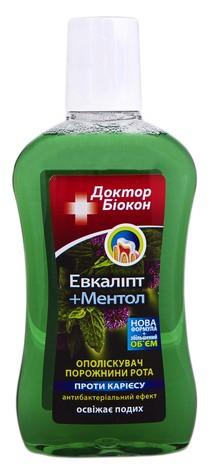 Доктор Біокон Ополіскувач порожнини рота Евкаліпт та Ментол 300 мл 1 флакон