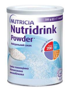 Nutricia Нутрідрінк Powder з нейтральним смаком 335 г 1 банка