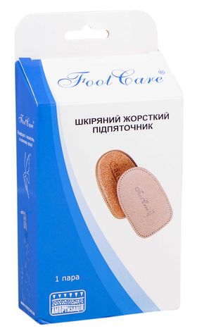 Foot Care ПЛ-003  Підп'яточник шкіряний жорсткий розмір L (39-46) 1 пара