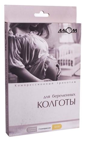 Алком 7022 Колготи для вагітних компресія 2 розмір 1 бежевий 1 шт