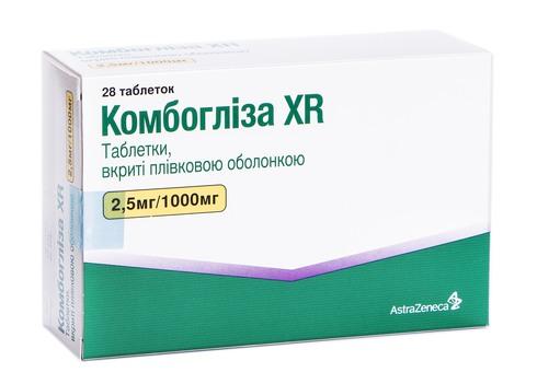 Комбогліза XR таблетки 2,5 мг/1000 мг  28 шт