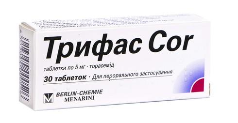 Трифас Cor таблетки 5 мг 30 шт
