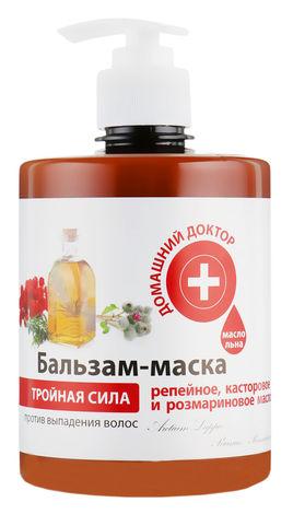 Домашній Доктор Бальзам-маска потрійна сила проти випадіння волосся 500 мл 1 банка